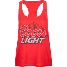 4558ed649a931 Coors Light Red Tank Country Girl Style