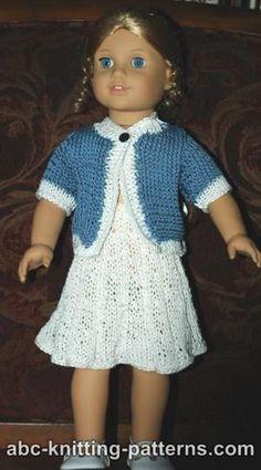 American Girl Doll Elegant Suit (Cardigan and Skirt)