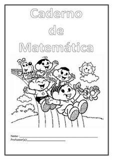 Rosearts- Atividades para imprimir: Abertura de caderno de Matemática e Português