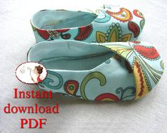 PDF. Sewing. Pattern. Kimono. Baby. Shoes. DIY via Etsy