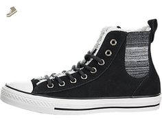 feb65023d2 Converse Womens Chuck Taylor All Star Chelsee Shearling Black Natural Egret  Sneaker - 6