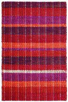 Classic Home Braided Jute Stripe Sunrise Rug   Solid & Striped Rugs