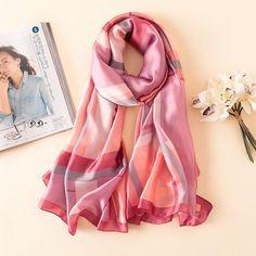 2018 luxury brand women scarf fashion print silk scarves for lady shawls and wraps spring winter pashmina foulard bandana hijab Silk Scarves, Pashmina Wrap, Small Scarf, Grey Scarf, Designer Scarves, Lady Grey, Summer Scarves, Scarf Styles, Lush