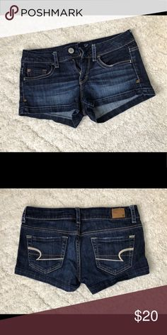 American Eagle women's jean shorts Like new American Eagle women's jean shorts. Great dark colored jean to be dressed up or down American Eagle Outfitters Shorts Jean Shorts American Eagle Shorts, American Eagle Outfitters Shorts, Jeans For Short Women, Ladies Dress Design, Colored Jeans, Jean Shorts, Pants, Fashion Design, Outfits