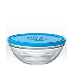 Plat en verre avec couvercle - 23 cm - 240 cl - Sebio