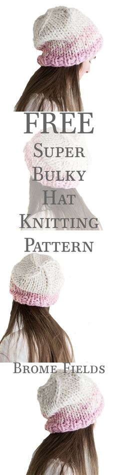 FREE Chunky Hat Knitting Pattern. Plus, 9 step-by-step video tutorials!