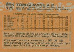 1988 Topps #779 Tom Glavine Back