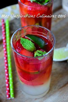 Virgin mojito a la fraise sans alcool 1