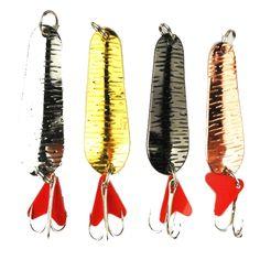 Hiladores 5 cm 8.3 g paillette de una variedad de señuelos de pesca de metal anzuelos aparejos de pesca
