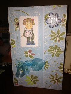 Little old girl card