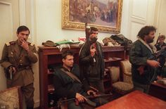 Soldiers and civilians occupy the office of ousted Romanian leader Nicolae Ceausescu in the capital Bucharest on Dec. 26 1989 the day after he was executed Romanian Revolution, World Conflicts, New Mods, Bucharest, Eastern Europe, World History, Photojournalism, The Office, Old Photos