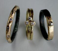 RUSTIC peligrostudio steel and gold engagement by Peligrostudio, $860.00