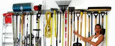 Holey Rail: Your Steel Pegboard Garden Tool Storage and Garage Storage Solution – and More! I want it bad but I have to wait until after Christmas- 4 ft for the laundry room 4 ft for the garage.  Where's Santa when you need him?