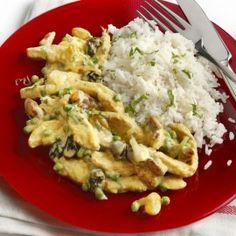 Schnitzels met studentenhaver en rijst Make It Simple, Grains, Homemade, Chicken, Easy, Food, Home Made, Essen, Diys