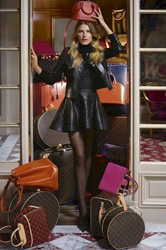 Dree Hemingway serves up a chic balancing act for Louis Vuitton's Pre-Fall 2013 campaign.
