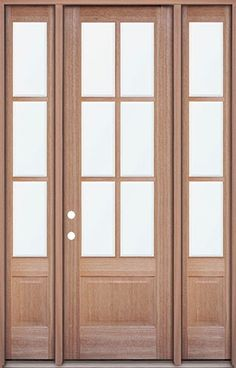 Mahogany 4-lite double doors. Great for a patio entrance ...