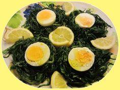 Uova sode su Nidi di Agretti
