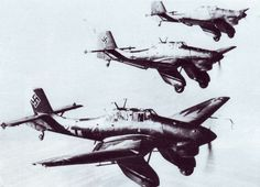 The Junkers Ju-87 Stuka was a dive bomber produced in Germany before and during World War Two (the name was derived from Sturzkampfflugzeug which translates to dive bomber). Approximately 6,500 were built between 1936 to 1944.