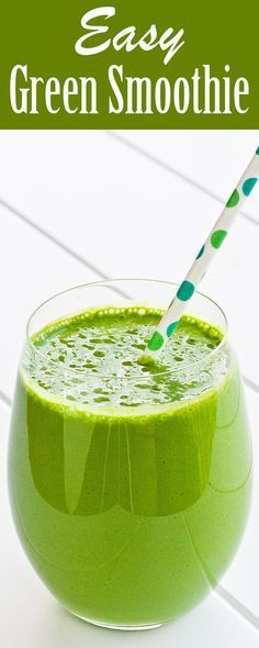 Healthy green smoothie with banana, pineapple, spinach, and Greek yogurt. On SimplyRecipes.com