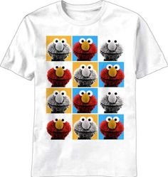 Sesame Street Pop Elmo Mens White T-Shirt http://www.beststreetstyle.com/sesame-street-pop-elmo-mens-white-t-shirt-2/ #fashion   Sesame Street Pop Elmo Mens White T-Shirt