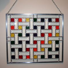 Stained Glass and Beveled Rainbow Quilt Panel from Etsy