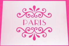 Paris Swirl Design Mylar Stencil Art Craft Painting DIY Wall Art Vintage Shabby Chic Reusable Various sizes FREE POSTAGE!