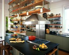 eclectic kitchen by Actual-Size Architecture