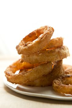 Grain-Free Onion Rings - And I have been craving onion rings for over a YEAR! Can you guess what will be on my menu soon? ;)