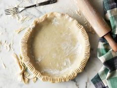Perfect Pie Crust recipe from Ina Garten via Food Network (I use Earth Balance for the butter to make vegan).