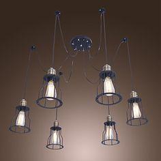 Retro pendant lamp Metal Frame Individual style pendant light included Edison light bulb  Free shipping