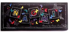 Funky Teenager personalised birthday card, black and neon, memory box alpha dies