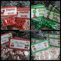 Reindeer Noses, Grinch Pills, Elf Pillows, Mrs. Claus' Kisses - For Sale