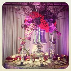 Moments with the planner- purple wedding decor