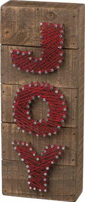 Item # 32627 | String Art - Joy | Primitives by Kathy