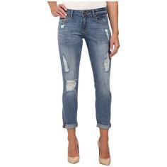 DL1961 Azalea Slim Boyfriend in Soroya Women's Jeans ($168) ❤ liked on Polyvore featuring jeans, ripped jeans, distressed boyfriend jeans, tapered jeans, destroyed jeans and cuffed boyfriend jeans