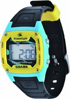 Freestyle Unisex FS81229 Shark Blue Yellow Black Polyurethane Watch Freestyle. $38.77
