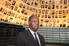 President of Ivory Coast @adosolutions in the Hall of Names at Yad Vashem 17.6.12