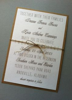 Vintage Rustic Wedding Invitations | Rustic Vintage Wedding Invitations, $2.00