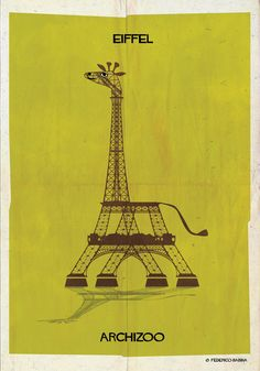 "Architecture Photography: ARCHIZOO: Illustrated Architectural ""Animals"" from Federico Babina (612287)"