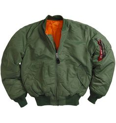 Alpha Industries MA-1 Flight Jacket : Mens Flight Jackets, Mens Jackets  Coats