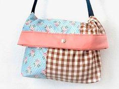 DIY-Anleitung: Umhängetasche nähen, Accessoire, Tasche, Clutch, Klapptasche, Outfit of the day / DIY-tutorial: sewing a bag, accessory, clutch via DaWanda.com