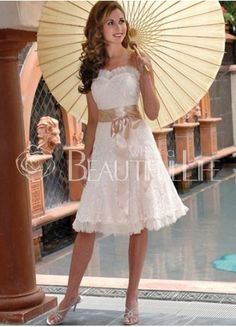 $121.99Sweet Satin Sweetheart #Mini #Lace #Wedding Dress With Sash Cute Bridesmaid Dresses, Mini Wedding Dresses, Tea Length Wedding Dress, Tea Length Dresses, Wedding Gowns, Lace Wedding, Dream Wedding, Casual Wedding, Bride Dresses