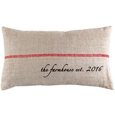 The Farmhouse Established Year French Grain Sack Pillow