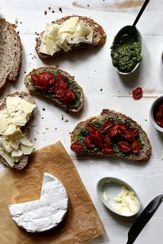 Roasted Tomato, Pesto, and Brie Grilled Cheese by joy the baker on Flickr.