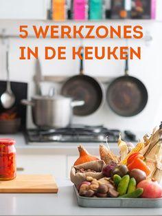 Wist je dat je de keuken het meest optimaal kan inrichten volgens het idee van de 5 werkzones? Breakfast, Tips, Food, Morning Coffee, Essen, Meals, Yemek, Eten, Counseling