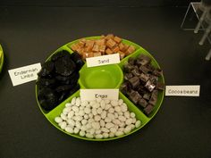 Minecraft Themed Snacks - Candy versions of Sand, Enderman Limbs, Eggs, and Cocoa Beans from the Minecraft video game.