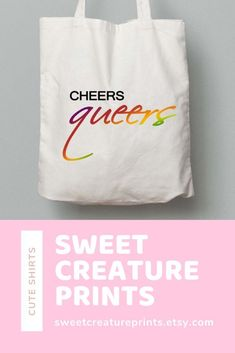 Cheers Queers. This Queer Eye LGBT totebag is perfect for any Pride events or just chilling watching Queer Eye. Click through to view more styles. #queereye #lgbt #jonathanvanness