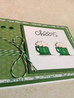 Cheers St Patrick's Day Card by Killerscards on Etsy, $2.50
