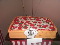 Cake at a Pizza Party #pizza #partycake