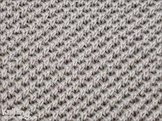 Pearl Brioche stitch creates a fabric with an interesting honeycomb structure. It's easy enough, involves slipped stitches and yarn overs.